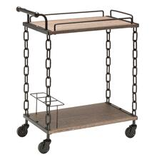 Danville Cart In Calico Finish With A Matte Black Chain