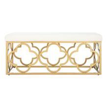 Fleur Rectangle Bench - Cream Velvet / Gold