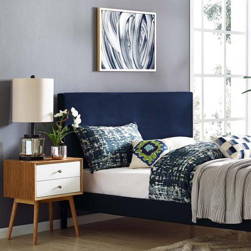 Modway - Taylor Twin Upholstered Performance Velvet Headboard in Midnight Blue