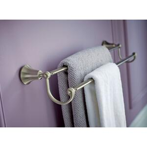 "Wynford brushed nickel 24"" double towel bar"