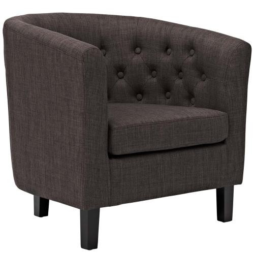 Modway - Prospect Upholstered Fabric Armchair in Brown