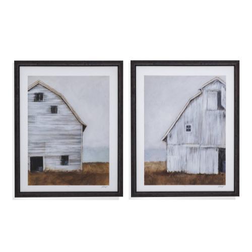 Bassett Mirror Company - 2 Pc Abandoned Barn