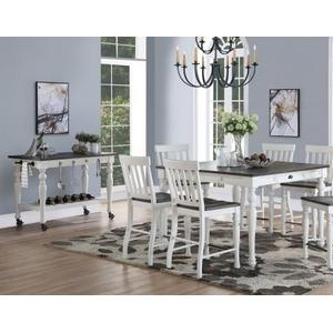 """Joanna Two Tone Counter Table w/18"""" Leaf"""