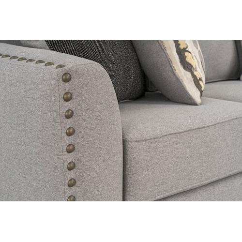 Carmelle Upholstered Loveseat, Granite