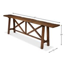 Double X Base Sofa Table