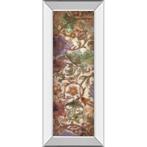 """Floral Sonata Il"" By O'Flannery Mirror Framed Print Wall Art"