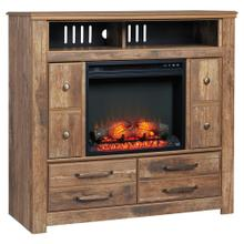 Blaneville Media Chest With Fireplace