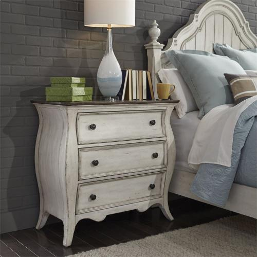 3 Drawer Bedside Chest w/ Charging Station
