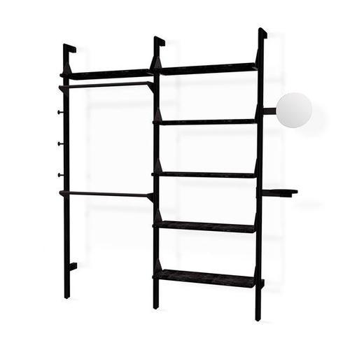 Branch-2 Display Unit Black Uprights Black Brackets Black Shelves