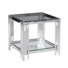 2-tier Silver/glass Accent Table, Kd