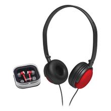 2-in-1 Combo DJ Style Stereo Headphones & Earphones