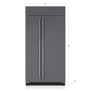 "Subzero42"" Classic Side-by-Side Refrigerator/Freezer with Internal Dispenser - Panel Ready"