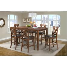 Alex Counter Dining Set - Counter Table and 6 Barstools