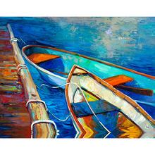 """View Product - When the Boats Come In - Taz 40"""" x 30"""""""
