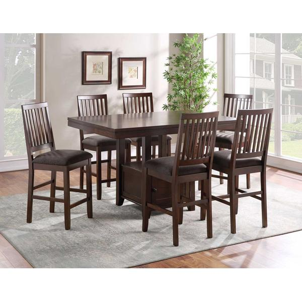 See Details - Yorktown 7-Piece Counter Storage Dining Set (Counter Table & 6 Counter Chairs)