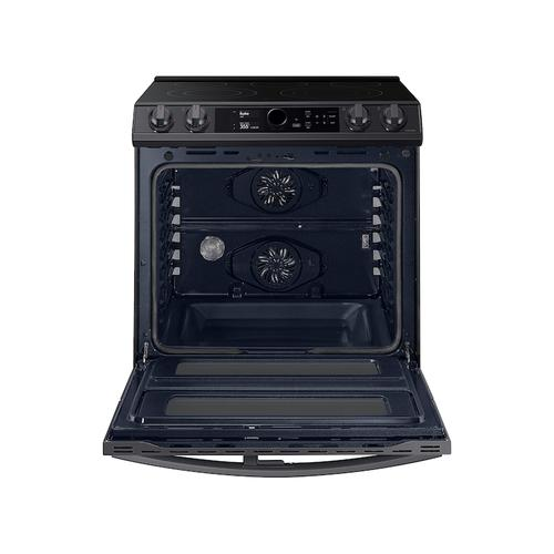 6.3 cu. ft. Flex Duo™ Front Control Slide-in Electric Range with Smart Dial, Air Fry & Wi-Fi in Black Stainless Steel