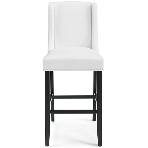 Baron Faux Leather Bar Stool in White