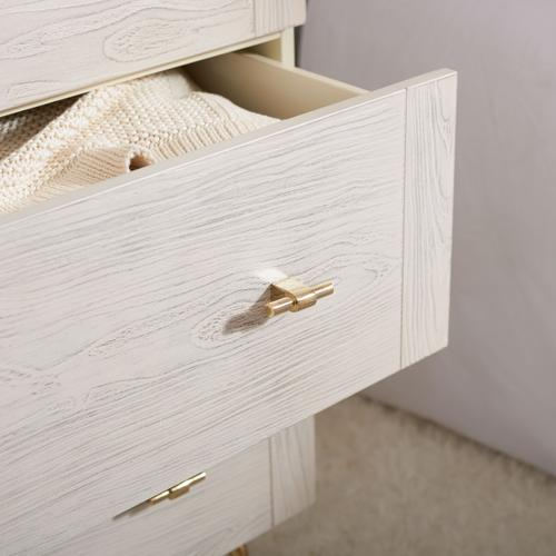 Genevieve 3 Drawer Dresser - Cream / White Washed