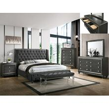 Giovani King Headboard + Wing