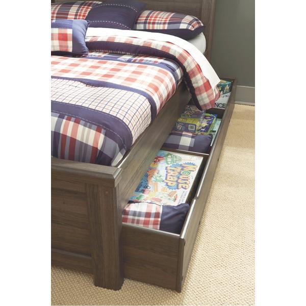 Juararo Full Panel Bed With Trundle or 1 Large Storage Drawer