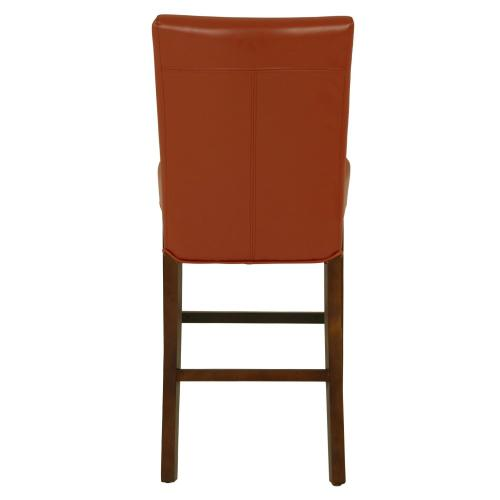 Milton Bonded Leather Counter Stool, Pumpkin