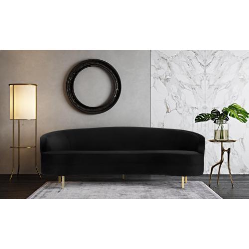 Product Image - Baila Black Velvet Sofa