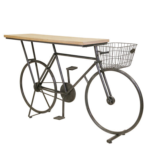 Gallery - Bicycle Console Table, Charcoal