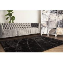 "Sorrento 722 Shag Area Rug by Rug Factory Plus - 5'4"" x 7'3"" / Black"