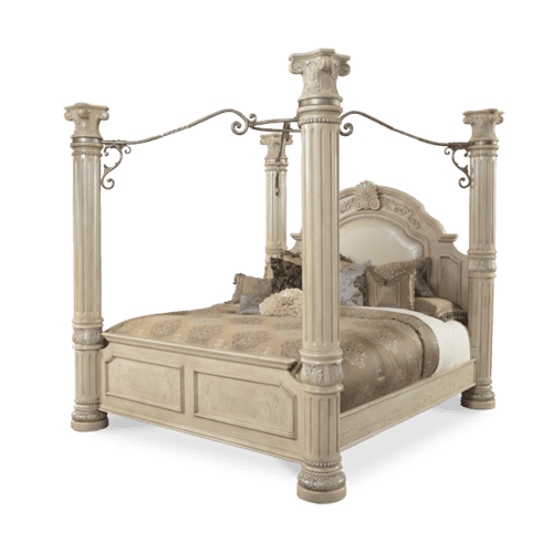 California King Poster Bed w/ Canopy