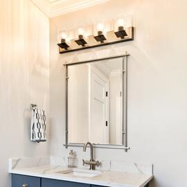 Eileen Modern Rectangular Mirror Brushed Nickel