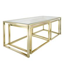 S/3 Nesting Coffee Table, Gold