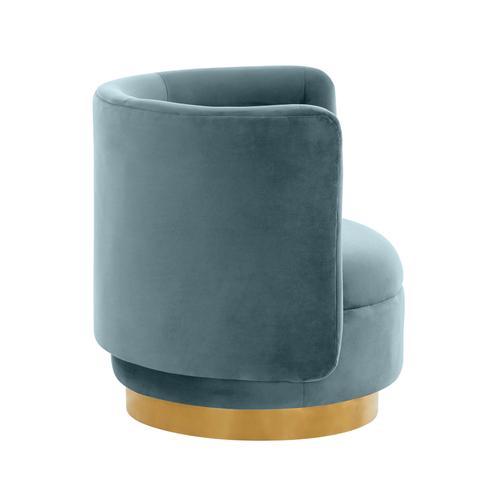 Tov Furniture - Remy Bluestone Velvet Swivel Chair