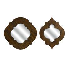 See Details - CKI Cronus Wood Frame Mirror - Set of 2
