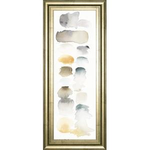 """Classy Art - """"Watercolor Swatch Panel Neutral I"""" By Elyse De Neige Framed Print Wall Art"""