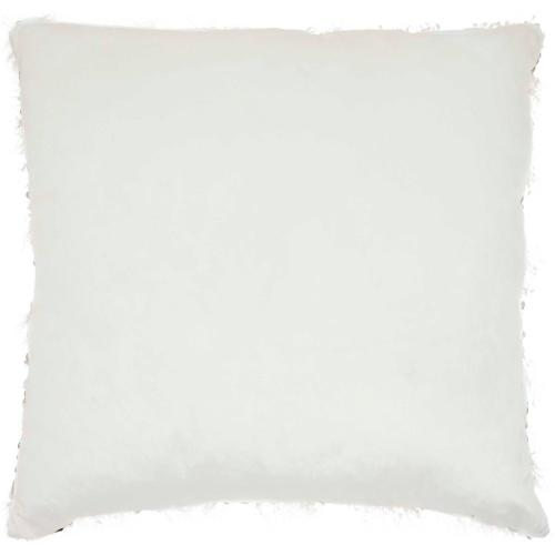 "Shag Vv202 Ivory 20"" X 20"" Throw Pillow"