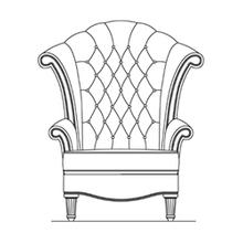 Leather High Back Wing Chair