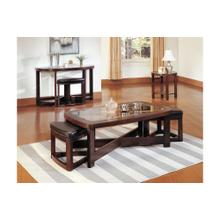 View Product - Rectangular Cocktail Table with Two Ottomans