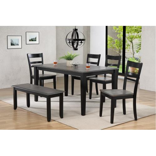 Dining Set w/Chairs & Bench - Tempo Brook (6 Piece)