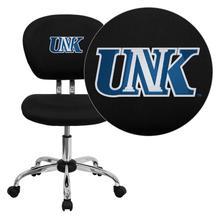 Nebraska at Kearney Lopers Embroidered Black Mesh Task Chair with Chrome Base