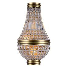 Stella 2 light French Gold Wall Sconce Clear Royal Cut Crystal