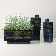 Building Blocks Vase-Reactive Blue-Sm