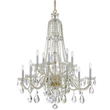 Traditional Crystal 12 Light S warovski Strass Crystal Brass Chandelier