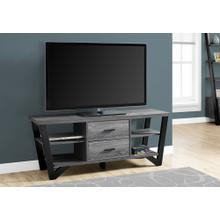 "TV STAND - 60""L / GREY-BLACK WITH 2 STORAGE DRAWERS"