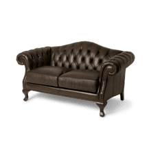 Knightsbridge Charterhse Leather LSeat in Galliano Espresso