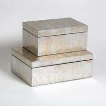 Champagne Silver Leaf Box-Sm
