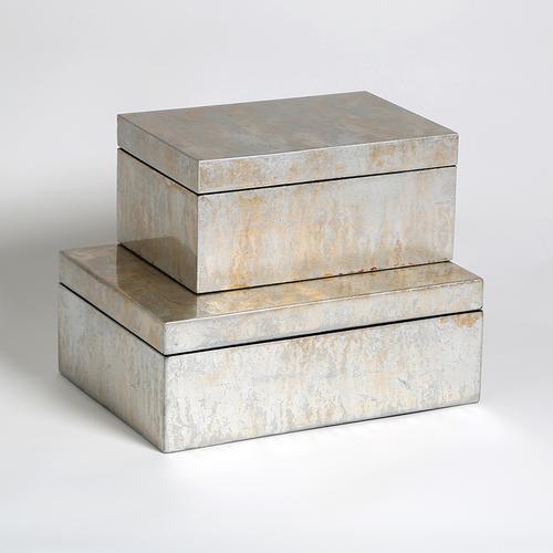 Champagne Silver Leaf Box-Lg