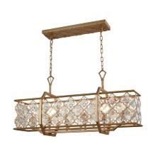 Armand 6-Light Chandelier in Matte Gold with Clear Crystals