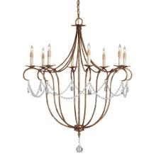 View Product - Crystal Lights Gold Large Chandelier