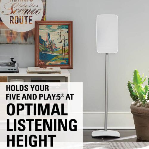White Wireless Speaker Stands designed for Sonos Five and Sonos Play:5