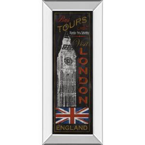 """London Tours"" By Conrad Knutsen Mirror Framed Print Wall Art"